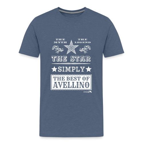 1,03 The Star Legend Avellino Bianco - Maglietta Premium per ragazzi