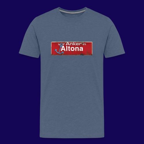 Vor Anker in Altona, Hamburg: Antik-Ortsschild - Teenager Premium T-Shirt