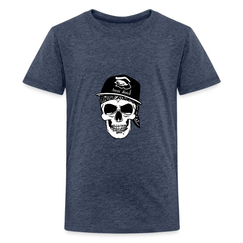 teschio rap - Maglietta Premium per ragazzi