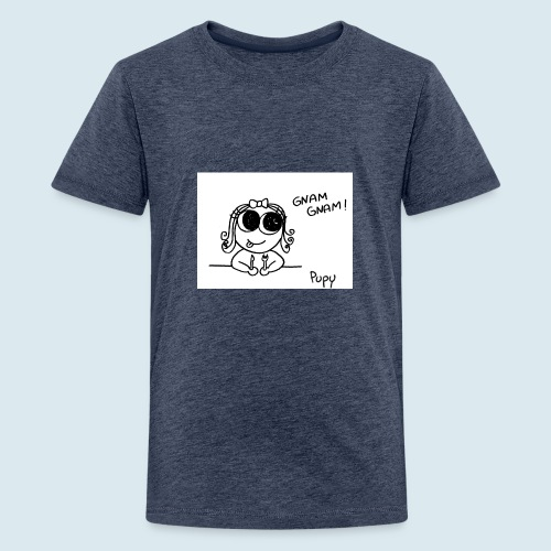 Pupy: gnam gnam! - girl - Maglietta Premium per ragazzi
