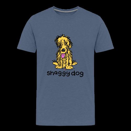 shaggy dog bang on the door - Teenage Premium T-Shirt