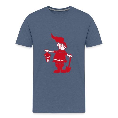 Auenzwerg Button - Teenager Premium T-Shirt
