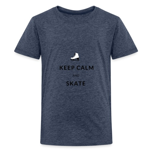 Keep calm and skate - T-shirt Premium Ado