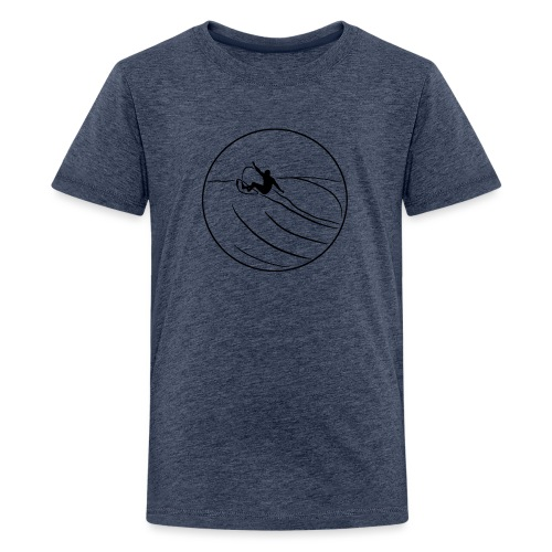 Surfer2 auf Welle Nr.1 - Teenager Premium T-Shirt