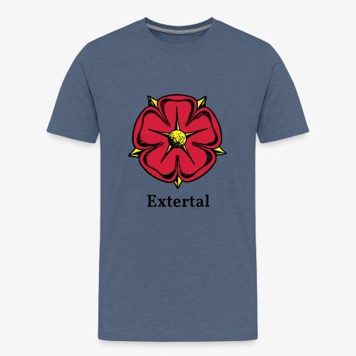 Lippische Rose mit Unterschrift Extertal - Teenager Premium T-Shirt
