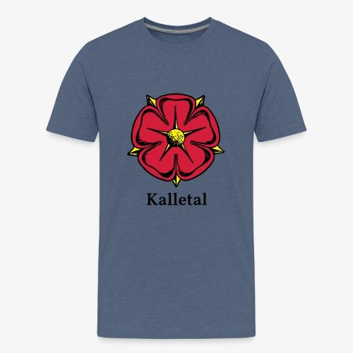 Lippische Rose mit Unterschrift Kalletal - Teenager Premium T-Shirt