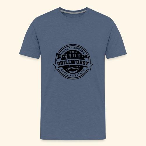 Grill T Shirt Projektleiter Grillwurst - Teenager Premium T-Shirt