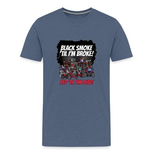 2016_black_smoke_red_IH_tshirt - Teenager Premium T-shirt