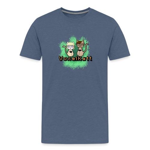 Voxelkatt retro logo - Premium-T-shirt tonåring