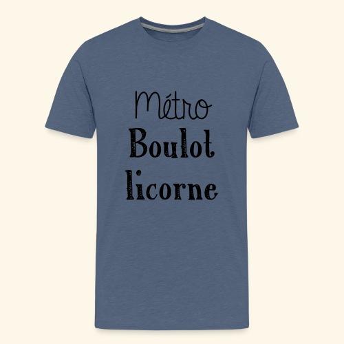 metro boulot licorne - T-shirt Premium Ado