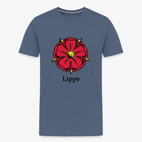 Lippische Rose mit Unterschrift Lippe - Teenager Premium T-Shirt