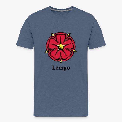 Lippische Rose mit Unterschrift Lemgo - Teenager Premium T-Shirt