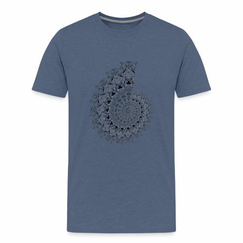 fractal - Teenager premium T-shirt
