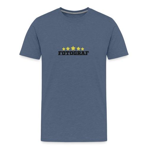 Wort Fotograf und fünf Sterne in gold - Teenager Premium T-Shirt