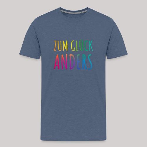 Zum Glück anders - Teenager Premium T-Shirt