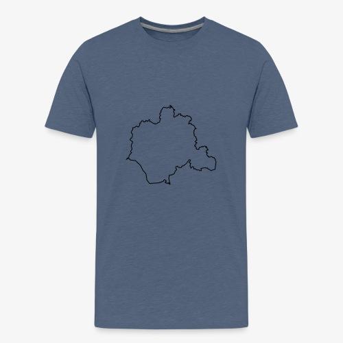 Kontur des Kreises Lippe - Teenager Premium T-Shirt