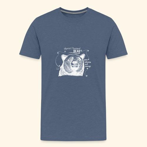 Spirit Animal Bär weiß - Teenager Premium T-Shirt