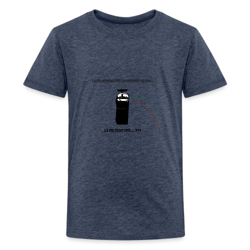 le fil rouge sur le bouton rouge - T-shirt Premium Ado