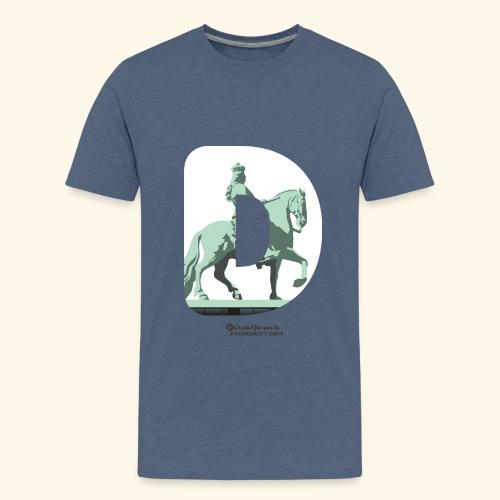 Düsseldorf T-Shirt Jan Wellem D weiß - Teenager Premium T-Shirt
