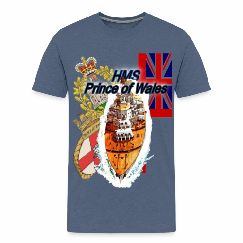 """""""Prince of wales """" Schlachtschiff - Teenager Premium T-Shirt"""