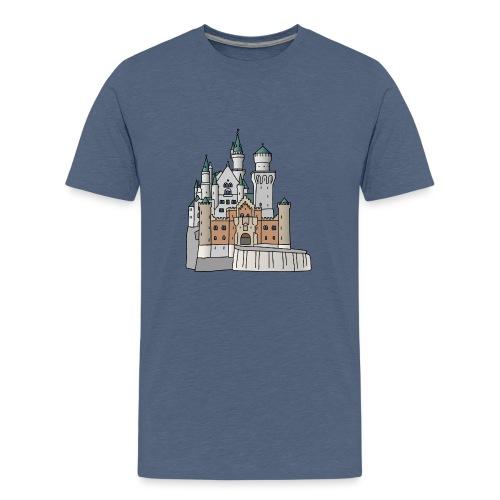 Schloss Neuschwanstein c - Teenager Premium T-Shirt