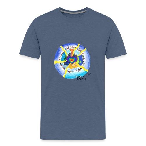 HEART EARTH - Teenager Premium T-Shirt
