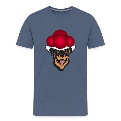 Rottweiler mit rotem Bollenhut - Teenager Premium T-Shirt