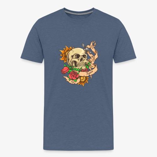 Schädel-Tattoo - Teenager Premium T-Shirt
