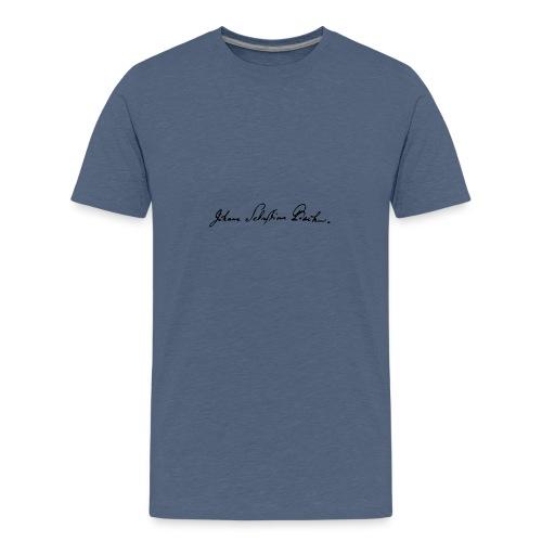Johann Sebastian Bach Unterschrift - Teenager Premium T-Shirt