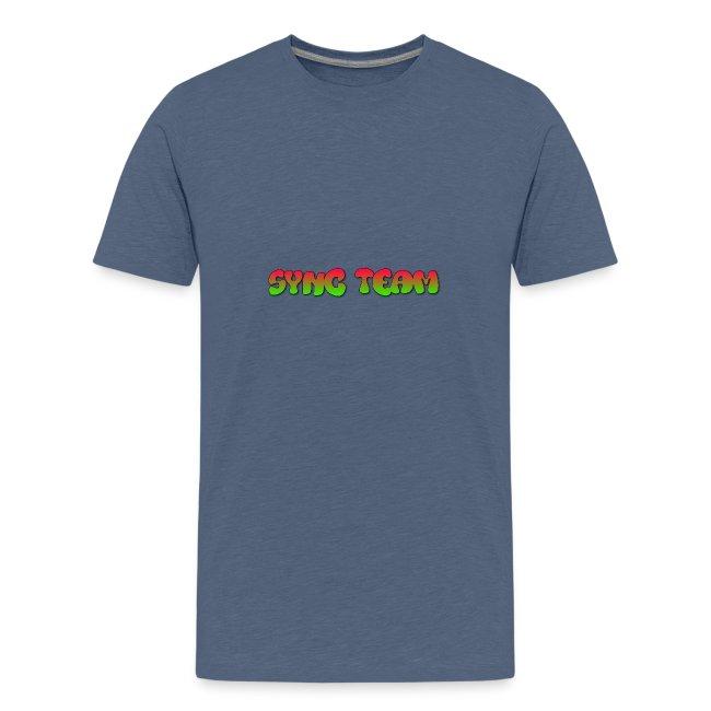 vêtement avec text SYNC TEAM