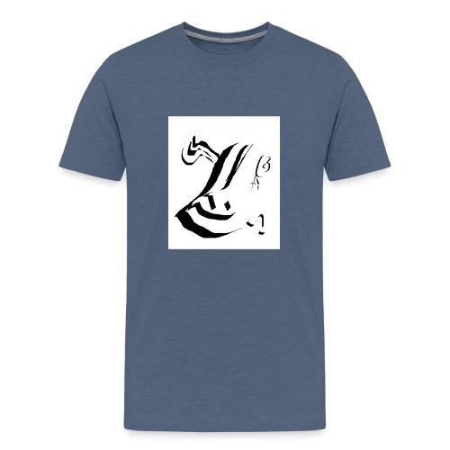 White and Black - Camiseta premium adolescente