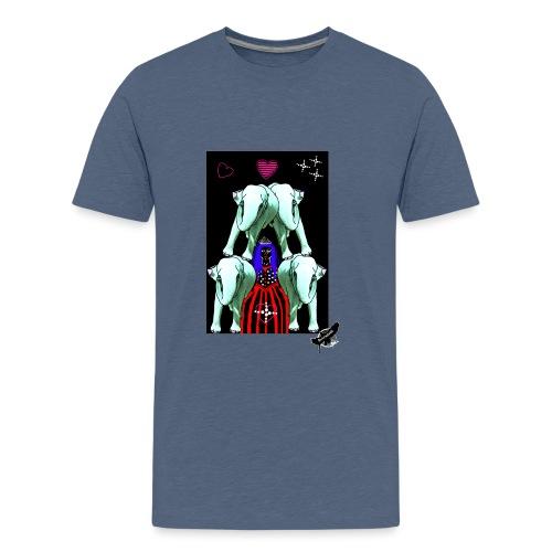Elephants with Princess, with logo - Teenager premium T-shirt