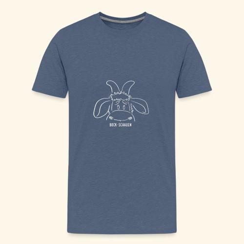 Bock schauen - weiß - Teenager Premium T-Shirt