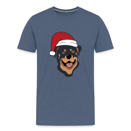 Weihnachtsmann Rottweiler - Teenager Premium T-Shirt
