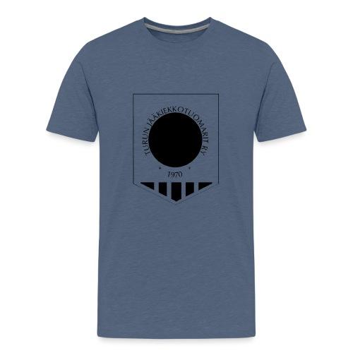 Tujen vaakunalogo - Teinien premium t-paita