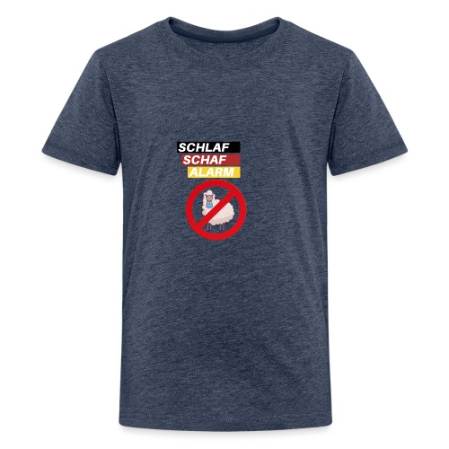 Schlaf-Schaf-Alarm - Teenager Premium T-Shirt