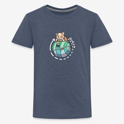 Zcooly Pi on top of the world - Premium-T-shirt tonåring
