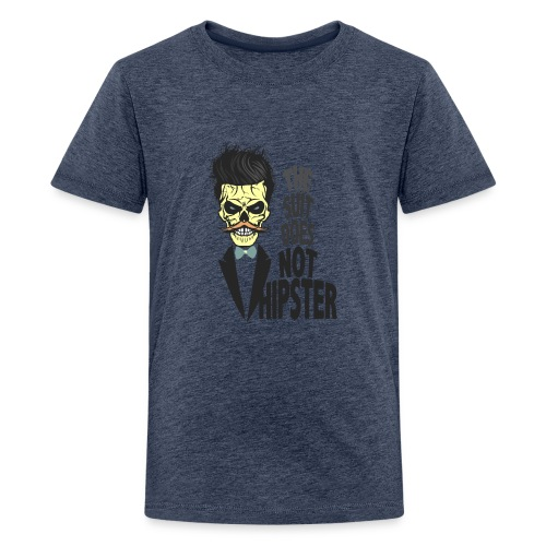 tete de mort hipster citation skull crane humour m - T-shirt Premium Ado
