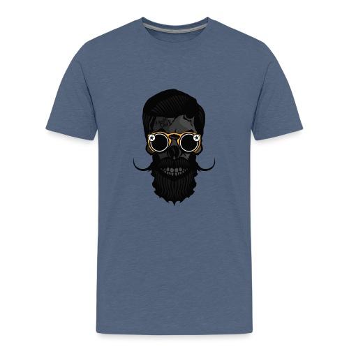 tete de mort crane skull hipster lunette de soleil - T-shirt Premium Ado