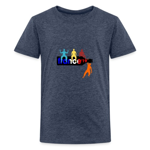 France Shirt Jungs Flasche vector bunt neu - Teenager Premium T-Shirt