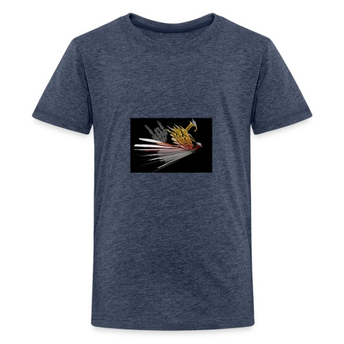 Abstarct Bird and Skeleton Hand - Teenage Premium T-Shirt