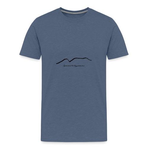 Gjertvasstind og Styggedalstind - Premium T-skjorte for tenåringer