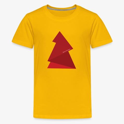 red triangles fir - Teenage Premium T-Shirt