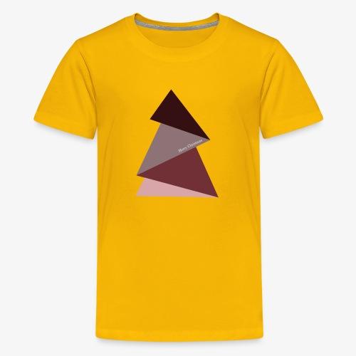 fir triangles 2 - Teenage Premium T-Shirt