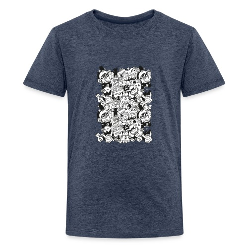 Monsters panic for star - Teenage Premium T-Shirt
