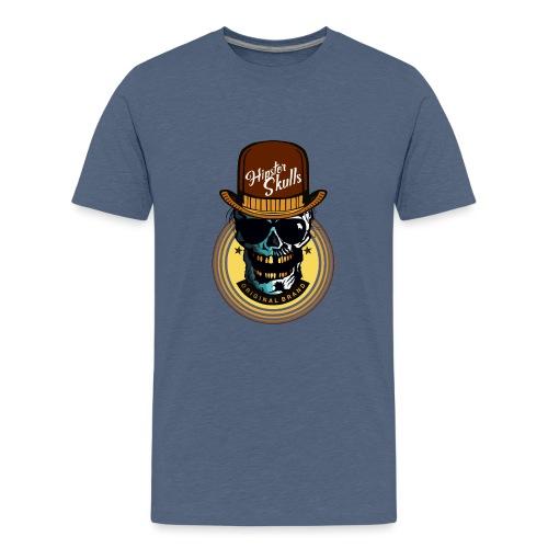tete de mort hipster skull crane lunette de soleil - T-shirt Premium Ado