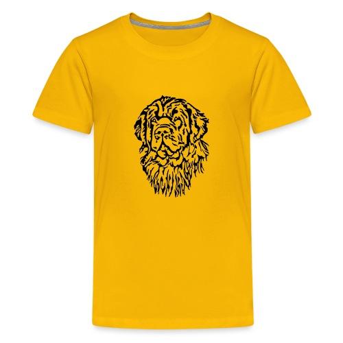 Neufundländer Kopf - Teenager Premium T-Shirt