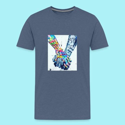 Main dans la main tatoués - T-shirt Premium Ado