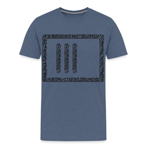 Wegzeichen 3 Min. warten - Stift - Schwarz - Teenager Premium T-Shirt