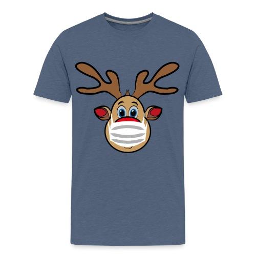 Ugly Xmas Rudi Reindeer mit Maske - Teenager Premium T-Shirt